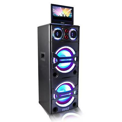 Pyle PKRK215 Bluetooth PA Loudspeaker Karaoke Entertainment Audio & Video System