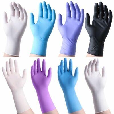 100 Pcs Gloves Nitrile - Latex -vinyl Powder Free S To Xxl Exam Tattoo Salon