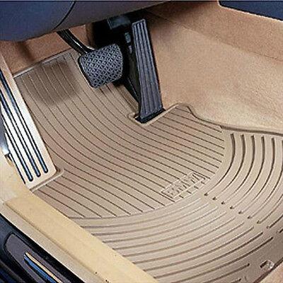 BMW Beige Rubber Floor Mat SET 2001-2005 325xi 330xi Sedans Wagons 82550136375 2001 Bmw 325xi Wagon