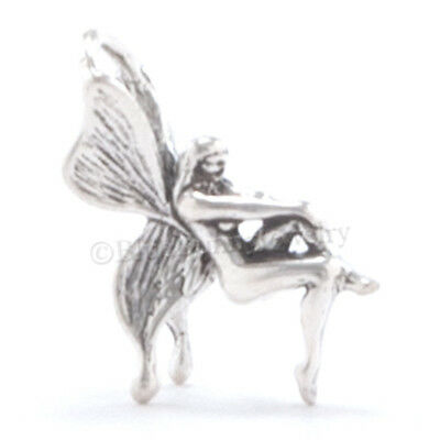 3D BUTTERFLY WINGS FAIRY Pixie Bracelet 925 Charm Pendant STERLING SILVER Small