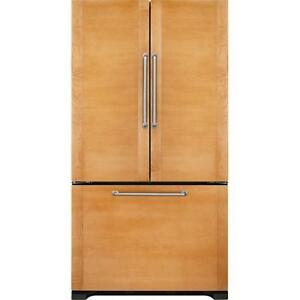 36-inch Custom panels Refrigerator, French doors, Jenn-Air