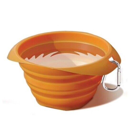 Kurgo Collaps-A-Bowl Travel Pet Food and Water Bowl Orange 24oz K00018