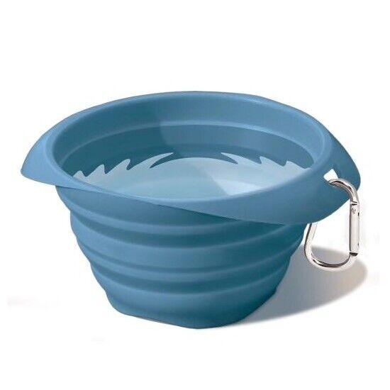 Kurgo Collaps-A-Bowl Travel Pet Food and Water Bowl Blue 24oz K00098