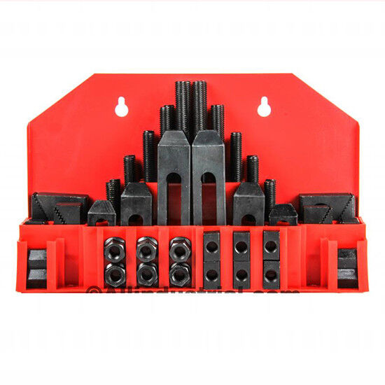 "58 Pc Pro-Series 5/8"" T-Slot Clamping Kit Bridgeport Mill Set Up Set 1/2-13"