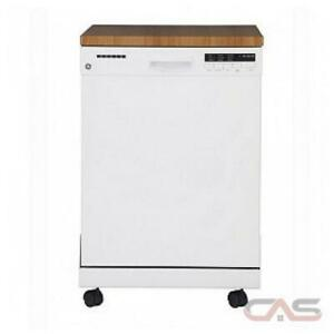 New GE Portable Dishwasher GPF400SGFWW 24 White