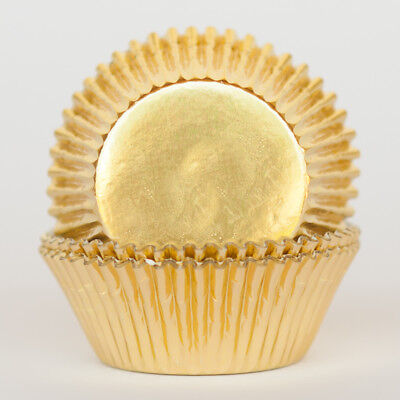 Gold Metallic Foil Standard Cupcake Liners Baking Cups Grease Proof