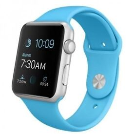 APPLE Watch NEW unused!! 38 mm with Sports Band - Aluminium & Blue