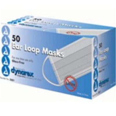 Dynarex Glass-free Filter Surgical Face Mask With Ear L