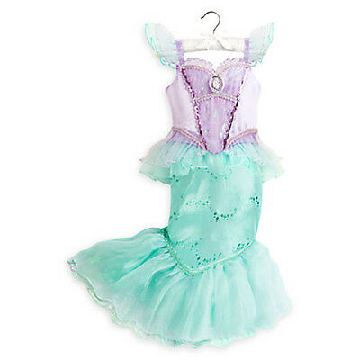 NWT DISNEY STORE Princess The Little Mermaid Ariel Halloween Costume Girls 9/10](Halloween The Little Girl)