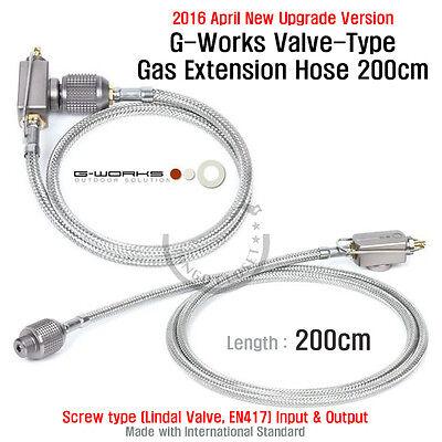(2016 Apr. New Upgrade) G Works Valve Type Gas Extension Hose 200cm Screw Output