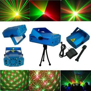RG Mixed Music Voice-control Laser Stage Lighting Projector Disc