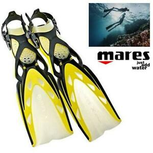 NEW MARES EXTREME FINS SMALL 410019-SAR YL 256956925 Open heel Scuba Diving and Snorkeling Yellow