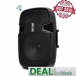 "PYLE PPHP152BMU 15"" Bluetooth Powered Wireless PA 1000 Watt Backyard DJ Speaker System includes a Wired Microphone"