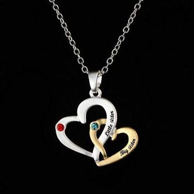 Schmuck Damen Halskette Herz Silber Gold Geschenk Frau Schwester Weihnachten Neu
