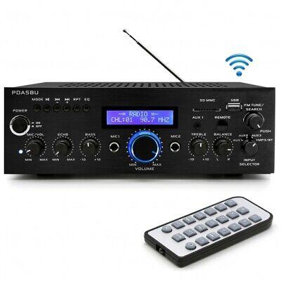 Wireless Bluetooth Home Power Amplifier - 200 Watt Audio Ste