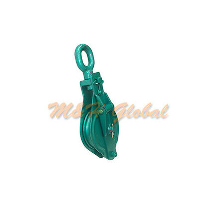 7 Pulley 3 Ton Single Sheave Wire Rope Swivel Eye Snatch Block