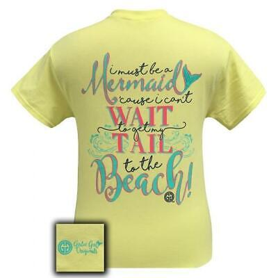Womens-girlie Girl Tee (Womens Girlie Girl Originals Mermaid Tail To The Beach Short Sleeve T-Shirt Tee)
