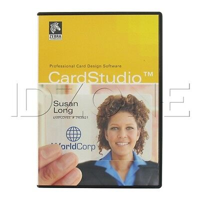Zebra P1031774 001 Cardstudio Standard Id Card Software