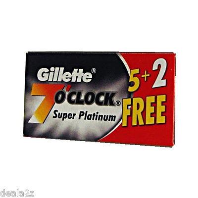 168 Blades Gillette 7 O Clock Super Platinum Double Edge ...