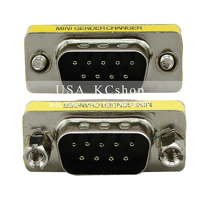 New DB9 RS-232 Male to Male Serial 9 Pin Gender Changer Coupler Cable (Rs 232 Gender Changer)