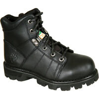 Wolverine Black - Steel Toed Boots Size 7