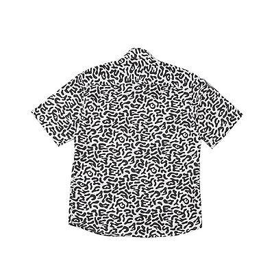 Korea street brand ANARCHIST short shirt Korean white tiger pattern