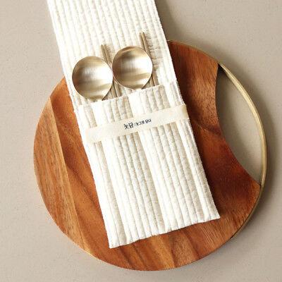 Notdam Korean Handmade Brassware Moon Spoon+Chopsticks Set//Royal Cuisine//Hallyu