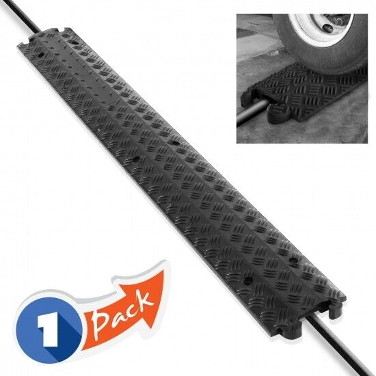 Pyle PCBLCO101BK Durable Cable Protection Ramp Cover - Suppo