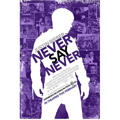 Justin Bieber Never Say Never Promo Silohuette 8 x 10 Inch Photo