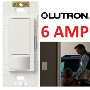 NEW LUTRON MOTION  SENSING SWITCH MS-OPS6M2-DV-WH 184783336 MASTRO 6 AMP MULTI LOCATION DUAL VOLTAGE