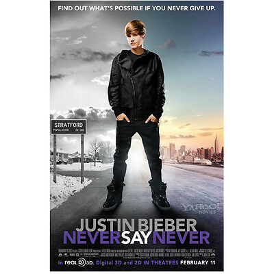 """Justin Bieber Never Say Never """"Find Out What's..."""" 8 x 10 Inch Photo"""