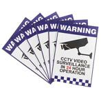 6pcs Warning CCTV Security Surveillance Camera Sign Warni...