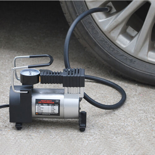 Portable 12v Mini Pump Heavy Duty Air Compressor Tire Inflator Gauge Perfect Hot New For Sale