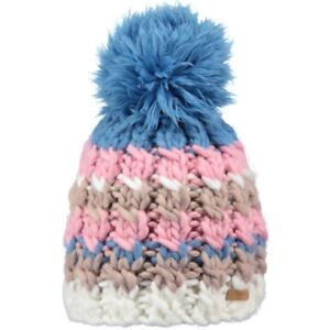 939a0060d84a9 Barts Women s Feather Ski snowboard Beanie Bobble Hat One Size Blue ...