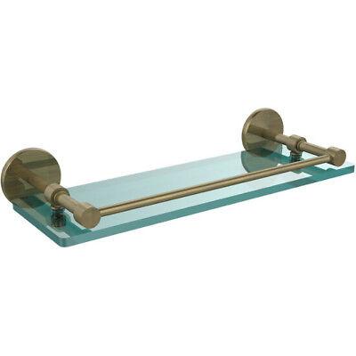 Glass Gallery Rail Shelf - Tempered Glass Shelf with Gallery Rail by Allied Brass
