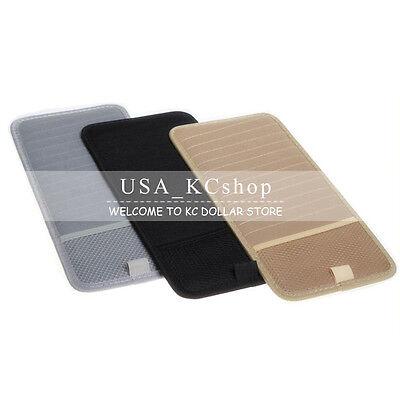 Auto Visor Cd Case (New Car Auto Sun Visor 12-Disk CD DVD Card Case Holder Pouch Storage Organizer )