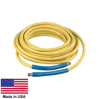 Pressure Washer Hose Commercial - 100 Ft - 4000 Psi - 38 Fittings