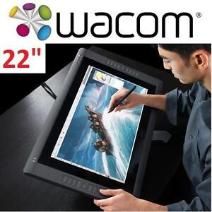 "USED WACOM CINTIQ 22"" TOUCH DISPLAY - 116235618 - PC COMPUTER MULTI TOUCH MONITOR INTERACTIVE 22HD GRAPHIC DESIGN"