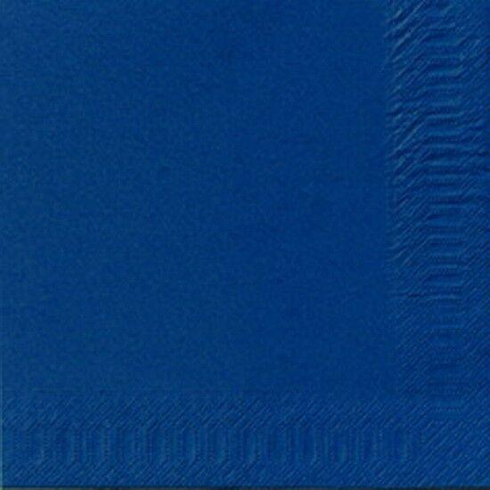 250 DUNI Servietten, dunkelblau, 3-lag., 33x33 cm, 1/4