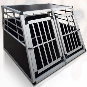Xl large dog car transport box aluminium travel cage for Xl dog travel crate