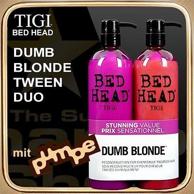 DUMB BLONDE Shampoo Conditioner (2x750ml) BED HEAD TIGI Tween Duo (mit