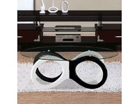 Olympia Black and White Coffee Table