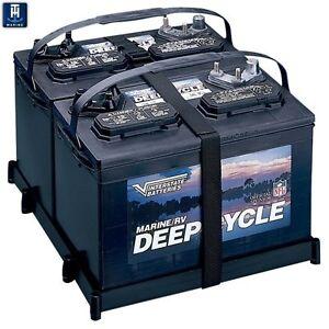 TH Marine Dual battery tray 27 series poly strap DBH-27P-DP