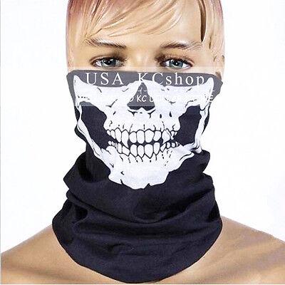 New Motorcycle Ski Biker Neck Ghost Skull Face Mask Balaclava CS Sport Helmet