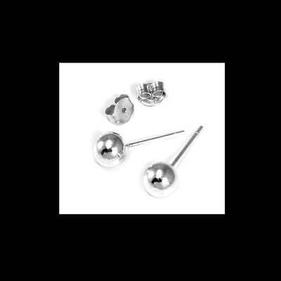 lot of 5 X 925 Sterling Silver BALL STUD Earrings 5mm size Wholesale lots