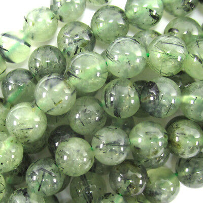 - Green Prehnite Round Beads Gemstone 15.5