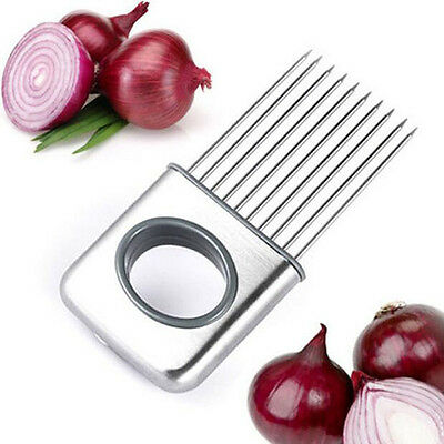 Onion Holder Slicer Vegetable Tools Tomato Cutter Stainless Steel Kitchen Gadget