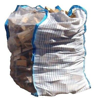 beste Holz Big Bag 100x100x120cm  für Brennholz  Kaminholz 10 Stück
