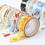 10 Rolls Mixed Cartoon Adhesive Decorative Scrapbooking T...