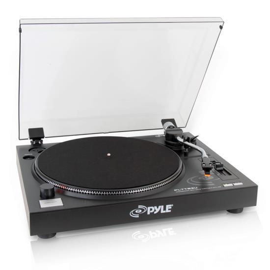 Pyle PLTTB3U Belt Drive USB Turntable With Recording & Digit